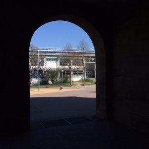 Schulhaus Blick vom Altbau